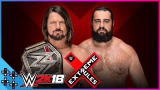 Extreme Rules 2018: AJ Styles vs. Rusev - WWE Championship Match - WWE 2K18 Match Sims