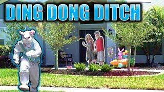EASTER BUNNY DING DONG DITCH PRANK!