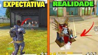 EXPECTATIVA vs REALIDADE - FREE FIRE MOMENTOS ENGRAÇADOS | FUNNY MOMENTS - TENTE NÃO RIR *thug life*