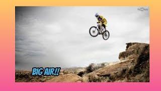 Hardcore downhill mountain biking (Extreme Sports) - (Red bull)