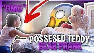 POSSESSED TEDDY BEAR PRANK ON 7 YEAR OLD COUSIN!!!(FUNNY ASF!)