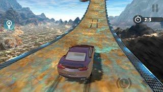 Extreme impossible car racing stunts simulator Android gameplay | by wow kidz gamedy
