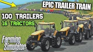 THE EPIC ROAD TRAIN - 16 TRACTORS & 100 TRAILERS