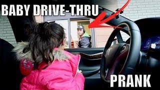 BABY DRIVE THRU PRANK!!