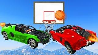 CRAZY ROCKET CAR SLAM DUNK! - GTA 5 Funny Moments