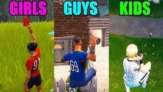 GIRLS vs GUYS vs KIDS - Fortnite Battle Royale Funny Moments! #91