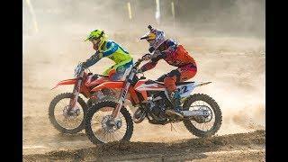 Red Bull factory KTM extreme enduro star Jonny Walker races a two-stroke 150 at motocross