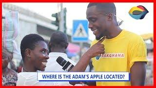 Where Is The ADAM'S APPLE Located? | Street Quiz | Funny Videos | Funny African Videos