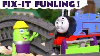 New Fix It Funling helps the Funny Funlings and Thomas Train - A fun story for kids