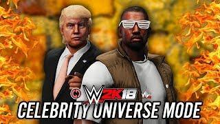 WWE 2K18 Celebrity Universe Mode - Ep 3 - EXTREME RULES!! KANYE vs TRUMP!! RICK & MORTY?!!