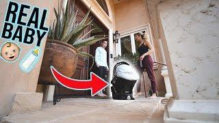 DELIVERING A REAL BABY TO THE FRONT DOOR PRANK!!