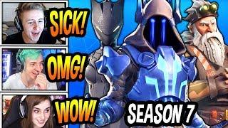 STREAMERS REACT TO *NEW* SEASON 7 BATTLE PASS SKINS! (LEAKED!) Fortnite FUNNY & EPIC Moments