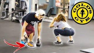 WEARING YEEZY SLIPPERS TO THE GYM PRANK
