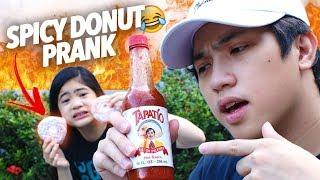 Spicy Donut Prank On Sister! | Ranz and Niana