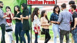 Challan Prank on Beautiful Girls   Unglibaaz