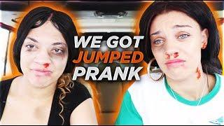 """""""WE GOT JUMPED PRANK"""" ON HUSBAND & BOYFRIEND!! **they freaked out**"""