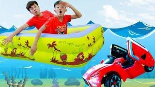 Funny Kids Playing in Water Toys Cars Videos for Children Songs Nursery Rhymes