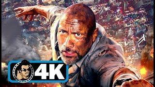 "SKYSCRAPER ""Crane Jump"" Movie Clip (4K ULTRA HD) Dwayne Johnson"