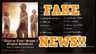 Attack on Titan STAFFEL 3 Soundtrack Liste ist FAKE! [News]