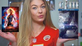 REACTING TO THE SUPER BOWL TRAILERS | Captain Marvel & Avengers Endgame Big Game TV Spot