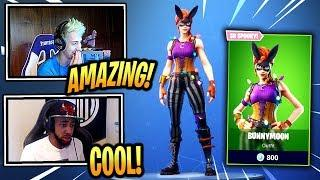 STREAMERS REACT *NEW* BUNNYMOON SKIN!! - Fortnite Epic & Funny Moments (Fortnite Battle Royale)