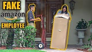 FAKE AMAZON EMPLOYEE DELIVERY PRANK!
