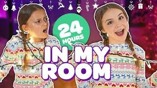FUNNY 24 HOUR OVERNIGHT ROOM CHALLENGE (Christmas Room Tour 2018)???????? | Piper Rockelle