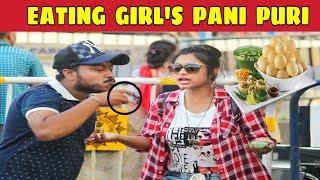 Eating Girls Pani Puri Prank | Prank On Cute Girl | Prank In Kolkata | Bengali Prank | KKF - 2019