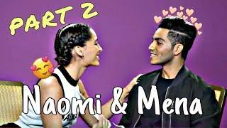 Naomi Scott and Mena Massoud Cute & Funny Moments Part 2