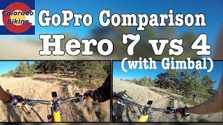 GoPro 7 Black vs GoPro 4 with EVO SS Gimbal | Extreme Trail Test for Mountain Bikers