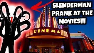 SLENDER MAN PRANK AT THE MOVIE THEATRE!!! (Slender man Sightings) | JOOGSQUAD PPJT
