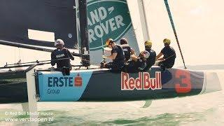 Max Verstappen & Daniel Ricciardo go extreme sailing at lake Balaton in Hungary