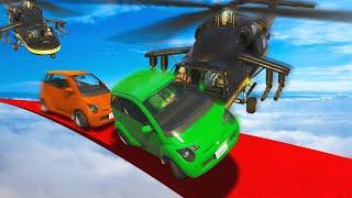 MILITARY CHOPPERS vs. SMALL CARS CHALLENGE! (GTA 5 Funny Moments)
