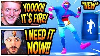 """TFUE & STREAMERS REACT TO *NEW* """"SWITCHSTEP"""" EMOTE/DANCE! *RARE* Fortnite FUNNY & EPIC Moments"""