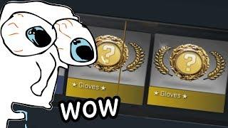 CS:GO 2 SETS OF GLOVES UNBOXING LUCKIEST EVER.MP4 (FUNNY MOMENTS)