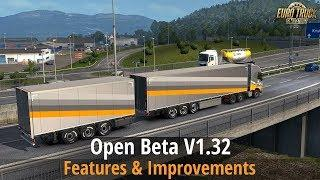 ETS2 Beta v1.32 (Trailer ownership, Germany Reworked, B-double Trailers, UI changes..)