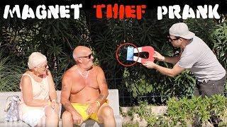 Magnet Thief PRANK  part2 - Julien Magic
