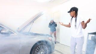 SETTING MY GIRLFRIEND CAR ON FIRE PRANK!!!