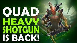 QUAD HEAVY SHOTGUN IS BACK | IS FORTNITE DYING | HIGH KILL FUNNY GAME - (Fortnite Battle Royale)