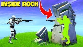Hiding Spot inside A Rock..! | Fortnite Twitch Funny Moments #213