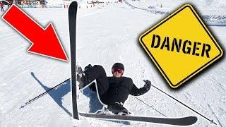 EXTREME SKIING FAIL (DANGEROUS)