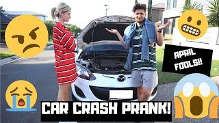 CAR CRASH PRANK ON WIFE || APRIL FOOLS DAY ||  DAILY VLOG