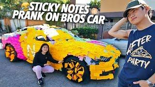 Sticky Notes Prank On Bros Car!!! | Ranz and Niana