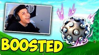 NINJA AND MYTH REACT TO BOOSTED IMPULSE GRENADE! APRIL FOOLS Fortnite - Funny and OP Moments