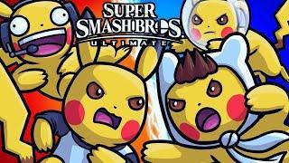 The Pokemon Pokeball SHOWDOWN!! (Super Smash Bros Ultimate Funny Moments)