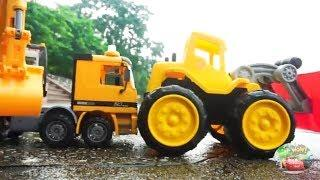 Car Pretend Play with Rescue Truck  Cranes Car Cxcavator  Vehicles - Funny Car for Kids | King Toys