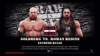 GOLDBERG VS ROMAN REIGNS! EXTREME RULES!