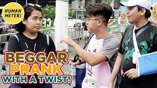 Beggar With Twist Prank Tagalog | Pranks in Philippines 2018 | HumanMeter