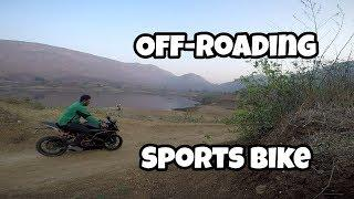 Extreme off-rdading a sports bike