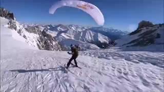 Speedrider Zooms Down Mount Blanc